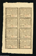 Colonial Notes:Rhode Island, Rhode Island July 2, 1780 Half Sheet of Eight Gem New. One ...