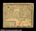 Colonial Notes:Rhode Island, Rhode Island July 2, 1780 $1 and $3. The $1 grades a bit ... (2notes)