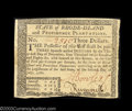 Colonial Notes:Rhode Island, Rhode Island July 2, 1780 $3 Choice About New. A light ...