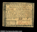 Colonial Notes:Rhode Island, Rhode Island July 2, 1780 $4 Very Fine. Fully signed, ...