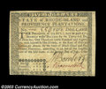 Colonial Notes:Rhode Island, Rhode Island July 2, 1780 $5 New. Fully signed and issued ...