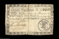 Colonial Notes:South Carolina, South Carolina March 6, 1776 L15 Very Fine. Two short ...
