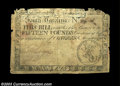 Colonial Notes:South Carolina, South Carolina March 6, 1776 L15 Fine, Damaged. The note ...