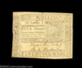 Colonial Notes:Virginia, Virginia March 11, 1760 L5 Extremely Fine. This is bar ...
