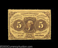 Fractional Currency:First Issue, Fr. 1228 5c First Issue Superb Gem New. Huge margins all ...