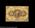 Fractional Currency:First Issue, Fr. 1228 5c First Issue Very Choice New. This 5c note has ...