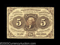 Fractional Currency:First Issue, Fr. 1229 5c First Issue Very Choice New. Beautiful deep, ...