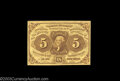 Fractional Currency:First Issue, Fr. 1230 5c First Issue Gem New. Very nicely margined on ...