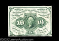 Fractional Currency:First Issue, Fr. 1241 10c First Issue Choice New. Partially perforated ...