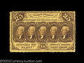Fractional Currency:First Issue, Fr. 1279 25¢ First Issue Gem New. Deep full perforations ...
