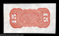 Fractional Currency:Third Issue, Fr. 1273/5SP 15c Third Issue Wide Margin Red Back About New.