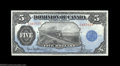 Canadian Currency: , DC-21f $5 1912 Choice Extremely Fine. A nicely centered ...