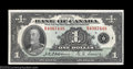 Canadian Currency: , Two BC-1 $1 1935 Choice Crisp Uncirculated. One example ... (2notes)