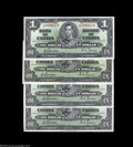 Canadian Currency: , Four BC-21c $1 1937. This variety is characterized by the ... (4notes)