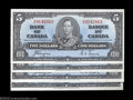Canadian Currency: , Four Consecutive BC-23c $5 1937. All four of these notes ... (4notes)
