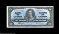 Canadian Currency: , BC-23c $5 1937 Choice Crisp Uncirculated. A pretty blue ...