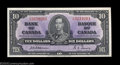 Canadian Currency: , Three Consecutive BC-24a $10 1937 Gem Crisp Uncirculated. ... (3notes)