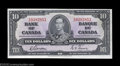 Canadian Currency: , Two Consecutive BC-24b $10 1937. Close scrutiny on this ... (2notes)