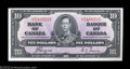 Canadian Currency: , Two BC-24c $10 1937 Choice Crisp Uncirculated. A minute ... (2notes)
