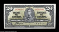 Canadian Currency: , BC-25c $20 1937 Gem Crisp Uncirculated. What looks like a ...