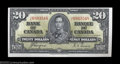 Canadian Currency: , BC-25c $20 1937 Extremely Fine+. This is a very lightly ...