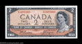 Canadian Currency: , Two BC-30b Devil's Face $2 1954 Choice Crisp Uncirculated. ... (2notes)