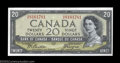 Canadian Currency: , Two Consecutive BC-33b Devil's Face $20 1954 Choice Crisp ... (2notes)