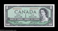 Canadian Currency: , BC-37a $1 1954 Solid Serial Number Gem Crisp Uncirculated. ...