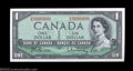 Canadian Currency: , Fancy Serial Number Pair BC-37b $1 1954.The serial numbers ... (2notes)