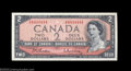 Canadian Currency: , BC-38b $2 1954 Solid Serial Number Choice Crisp Uncirculated....