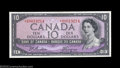 Canadian Currency: , BC-40aA $10 1954 Asterisk Replacement Note Extremely Fine-...