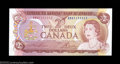 Canadian Currency: , BC-47a-i $2 1974 Solid Serial Number Gem Crisp Uncirculated.