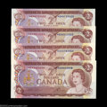 Canadian Currency: , Four BC-47aA $2 1974 Asterisk Replacement Notes. This ... (4 notes)