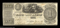 Obsoletes By State:Michigan, Ann Arbor, MI- The Bank of Ann Arbor $1 June 6, 1838 G2 ...