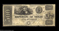 Obsoletes By State:Texas, Austin, TX - Republic of Texas $500 May 31, 1839 Cr. A9 ...