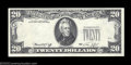 Error Notes:Missing Third Printing, Fr. 2071-D $20 1974 Federal Reserve Note. Choice Crisp ...