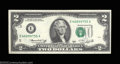 Error Notes:Shifted Third Printing, Fr. 1935-E $2 1976 Federal Reserve Note. Choice About ...