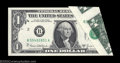 Error Notes:Foldovers, Fr. 1907-B $1 1969D Federal Reserve Note. Gem Crisp ...