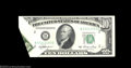 Error Notes:Foldovers, Fr. 2011-B$10 1950A Federal Reserve Note. About Uncirculated....
