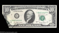Error Notes:Foldovers, Fr. 2024-G $10 1977A Federal Reserve Note. Gem Crisp ...