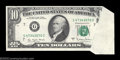 Error Notes:Foldovers, Fr. 2024-G $10 1977A Federal Reserve Note. About ...