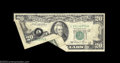 Error Notes:Foldovers, Fr. 2074-L $20 1981A Federal Reserve Note. Very Fine-...