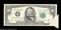 Error Notes:Foldovers, Fr. 2123-B $50 1988 Federal Reserve Note. About Uncirculated....