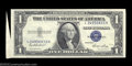 Error Notes:Attached Tabs, Fr. 1614 $1 1935E Silver Certificate. Choice Crisp ...