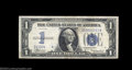 Error Notes:Obstruction Errors, Fr. 1606 $1 1934 Silver Certificate. Very Fine. An ...