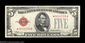 Small Size:Legal Tender Notes, Fr. 1530* $5 1928E Legal Tender. About Uncirculated.