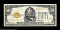 Small Size:Gold Certificates, Fr. 2404 $50 1928 Gold Certificate. Very Fine.