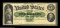 Fr. 3 $5 1861 Demand Note Fine-Very Fine. This original, unmolested Demand Note is margined all the way around, and it r...