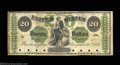 Large Size:Demand Notes, Fr. 11 $20 1861 Demand Note Very Fine. An intriguing piece ...