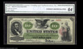 Large Size:Legal Tender Notes, Fr. 93 $10 1862 Legal Tender CGA Choice Uncirculated 64. A ...